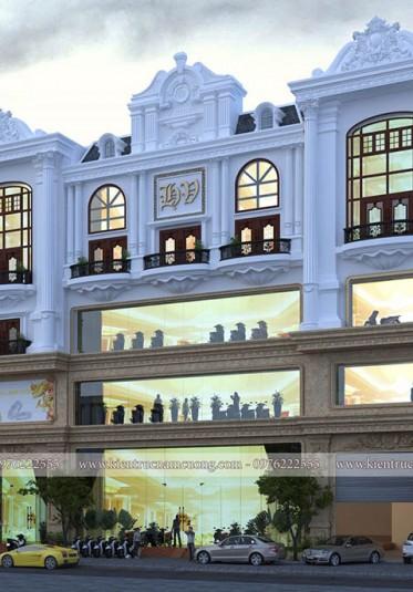 Hoành tráng với mẫu showroom phong cách cổ điển tại Nghệ An