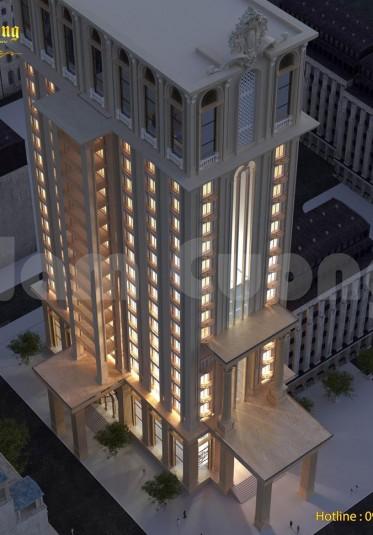 Mẫu thiết kế khách sạn 3 sao tân cổ điển hút khách du lịch