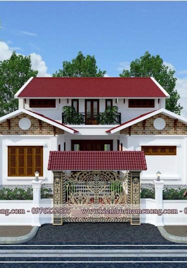 Khám phá mẫu nhà 2 tầng đẹp ở nông thôn giá rẻ
