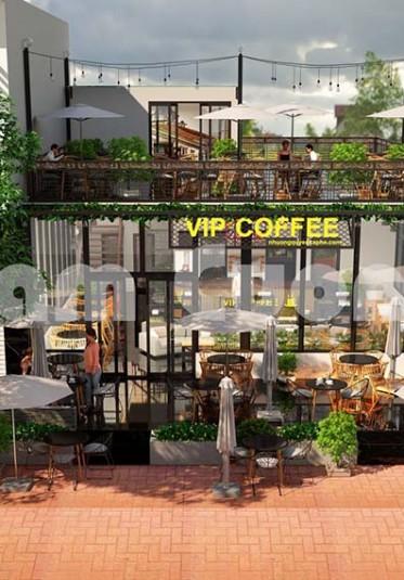 Mẫu thiết kế nội thất quán cà phê độc đáo