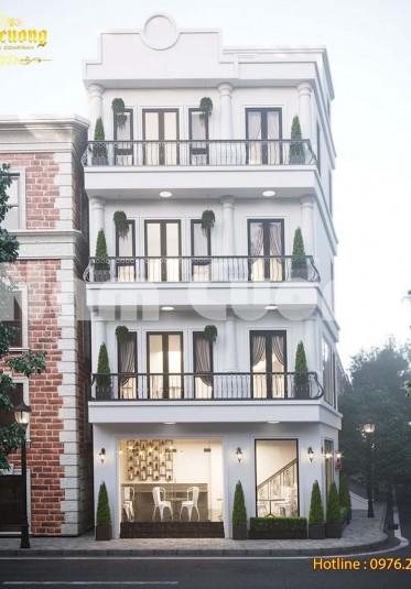 Hoàn thành thiết kế quán cafe kết hợp nhà ở 4 tầng