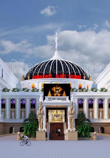 Thiết kế khu tổ hợp karaoke kiến trúc tân cổ điển tại Quảng Ninh - KRCD 001