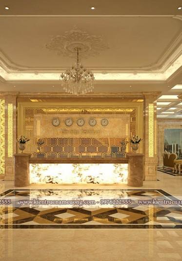 Những mẫu thiết kế sảnh khách sạn cổ điển đẹp ấn tượng và sang trọng