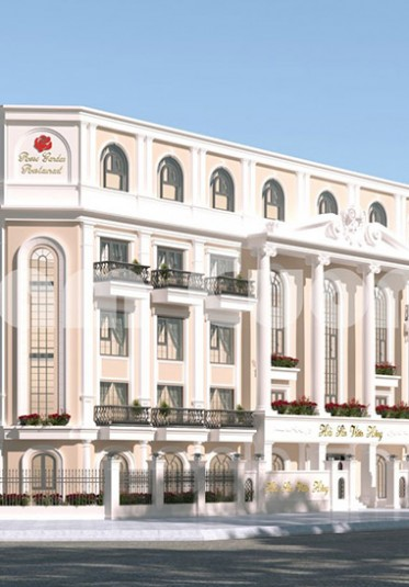 Thiết kế nhà hàng hải sản cao cấp 5 tầng 2 mặt tiền