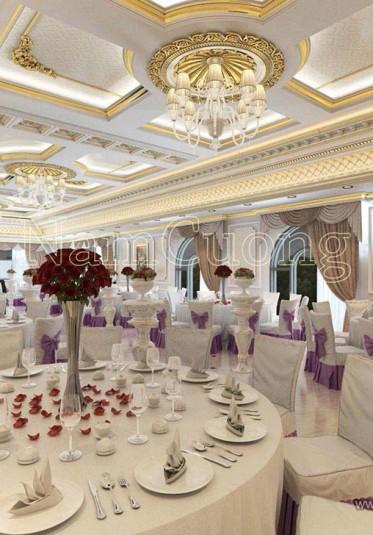 Nhà hàng tiệc cưới kiểu cổ điển