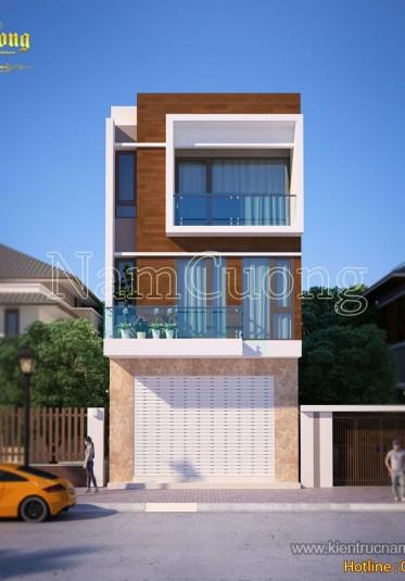Thiết kế nhà phố 3 tầng mặt tiền 6m hiện đại