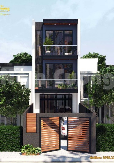 Thiết kế nhà phố hiện đại 3 tầng 5x20m