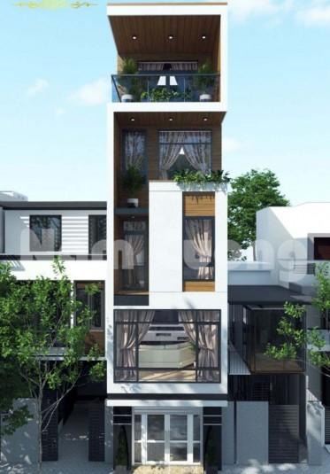 Thiết kế nhà phố hiện đại 5 tầng đẹp ấn tượng