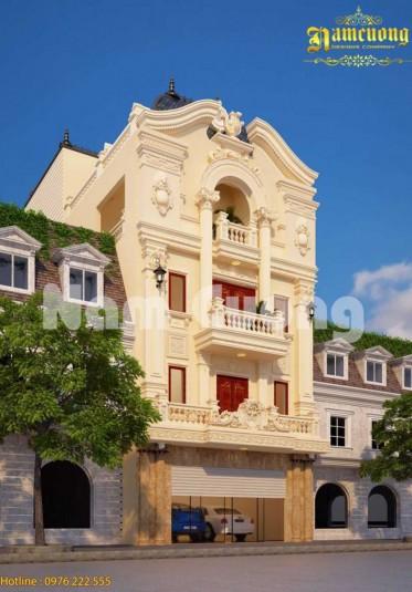 Chiêm ngưỡng mẫu nhà phố kiểu Pháp 4 tầng cực ấn tượng