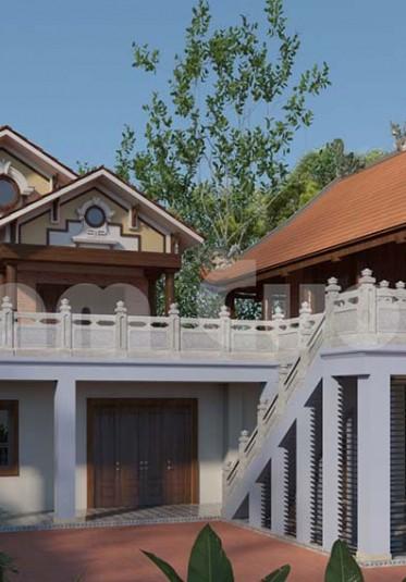 Hoành tráng mẫu nhà tân cổ điển 2 tầng
