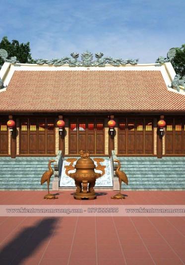 Thiết kế quần thể kiến trúc nhà thờ họ tại Hải Dương mang vẻ đẹp truyền thống - NTH 002