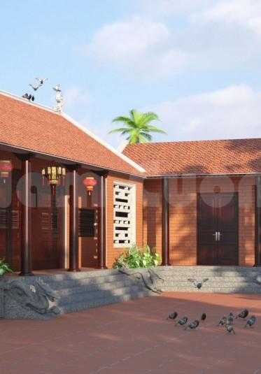 Thiết kế kiến trúc công trình nhà thờ họ tại Bình Dương