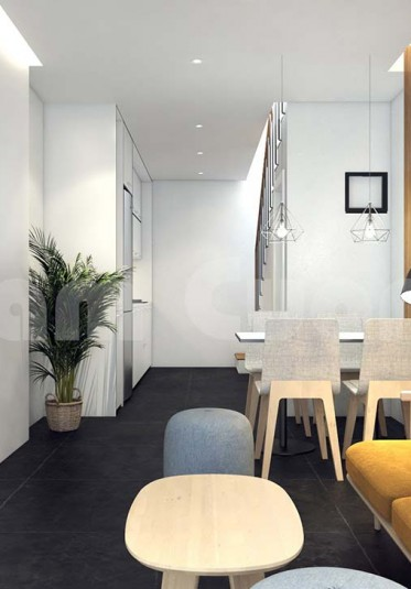 Mẫu thiết kế nội thất nhà ống 50m2 công năng đầy đủ