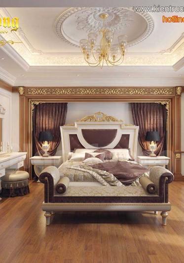 Mẫu nội thất phòng ngủ tân cổ điển 20m2 đẳng cấp