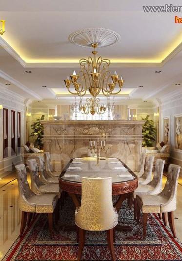Mẫu nội thất phòng bếp tân cổ điển ấn tượng tại Quảng Ninh - NTBTCD 037