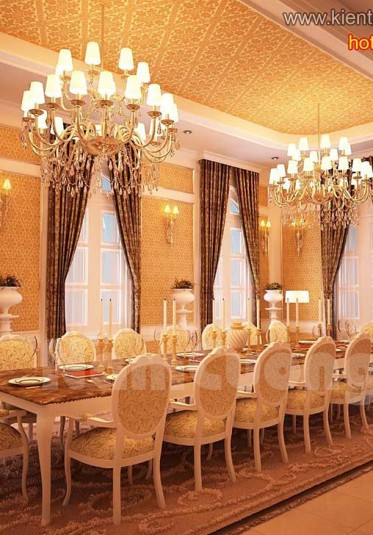 Phòng bếp phong cách tân cổ điển màu vàng ấn tượng tại Sài Gòn - NTPBV 001