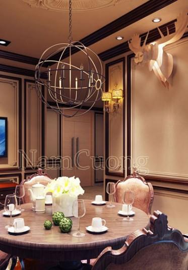 Mẫu nội thất phòng bếp tân cổ điển ấn tượng tại Sài Gòn - NTBTCD 039
