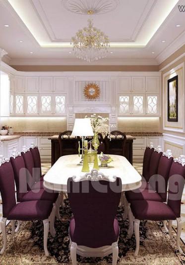 Mẫu thiết kế nội thất phòng ăn tân cổ điển đẹp tại Quảng Ninh - NTBTCD 40