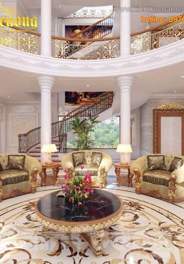 Thiết kế nội thất phòng khách phong cách Pháp ấn tượng tại Sài Gòn - NTKP 021