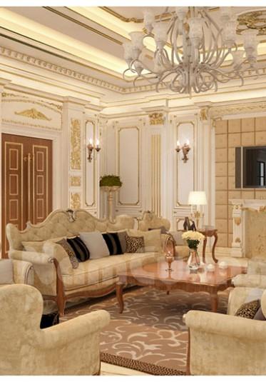 Thiết kế nội thất phòng khách tân cổ điển đẹp tại Sài Gòn - NTKTCD 013