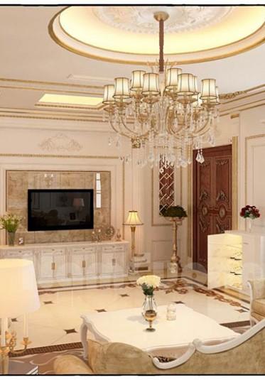 Thiết kế nội thất phòng khách tân cổ điển ở Sài Gòn - NTKTCD 016