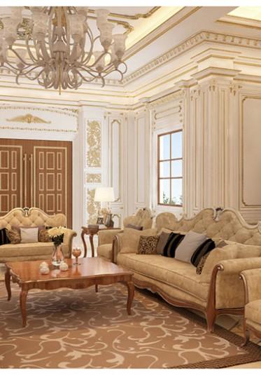 Thiết kế nội thất phòng khách tân cổ điển đẹp tại Hải Phòng - NTKTCD 008
