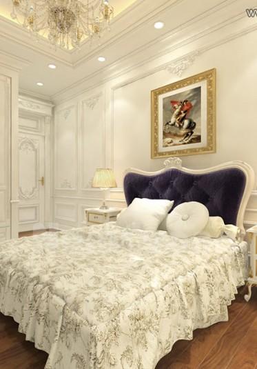 Mẫu thiết kế nội thất phòng ngủ tân cổ điển tại Sài Gòn - NTNTCD 009