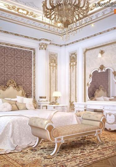 Thiết kế nội thất phòng ngủ ấn tượng phong cách Pháp tại Sài Gòn - NTNTCD 011