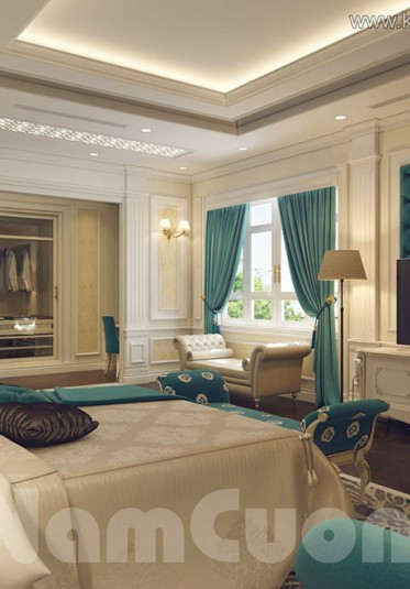 Thiết kế nội thất phòng ngủ tân cổ đẹp tại Sài Gòn -NTNTCD 027