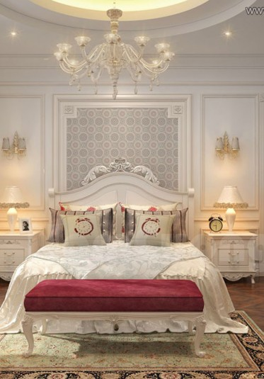 Thiết kế nội thất phòng ngủ tân cổ điển đẹp tại Sài Gòn - NTNTCD 017