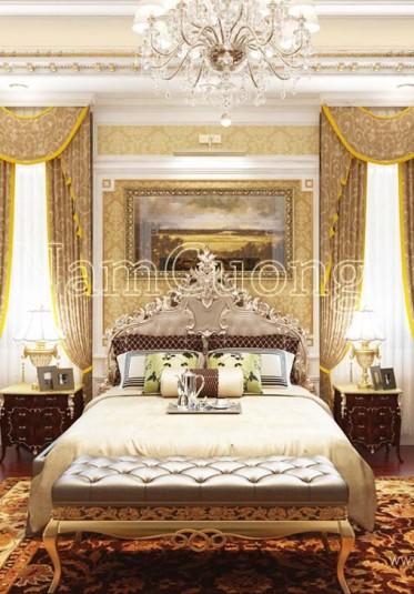 Thiết kế nội thất cho phòng ngủ biệt thự lâu đài - NTPN 004