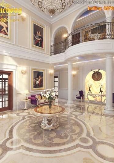Thiết kế không gian sảnh lớn ấn tượng cho những căn biệt thự - SCD 006