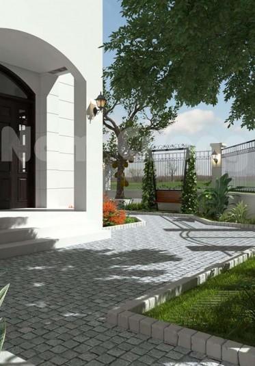 Thiết kế tiểu cảnh cho biệt thự hiện đại tại Hải Phòng  - TCBT 002