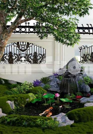 Thiết kế tiểu cảnh sân vườn đẹp của Nam Cường - NCDC