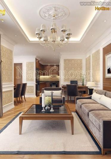 Mẫu thiết kế nội thất chung cư tối giản đẹp