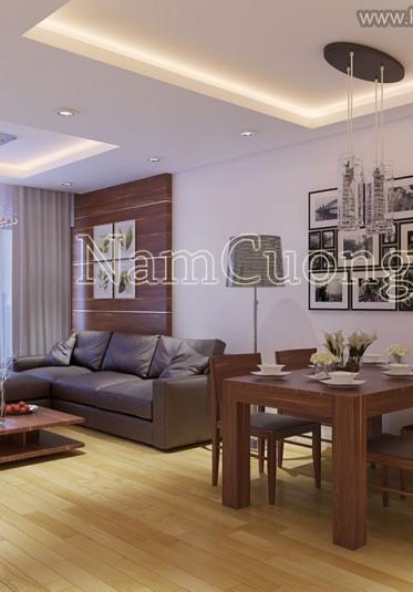 Thiết kế nội thất căn hộ chung cư tiện nghi, đẳng cấp