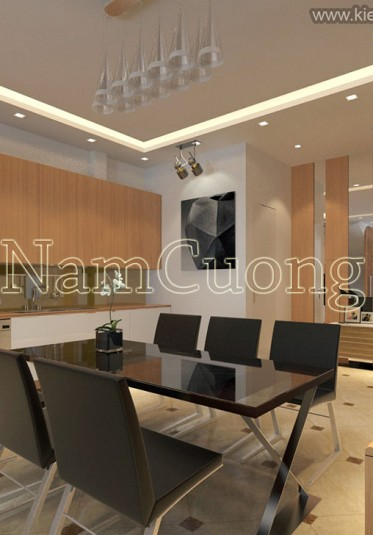 Mẫu nội thất căn hộ chung cư đẹp phong cách hiện đại - NTCCHD 008