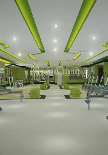 Thiết kế nội thất hiện đại cho phòng tập Gym 123 tại Hải Phòng