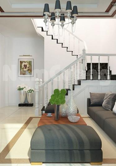 Mẫu thiết kế phòng khách hiện đại màu ghi xám tại Hải Phòng - PKHDG 001