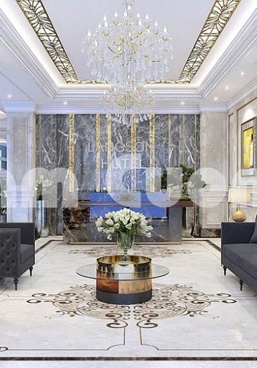 Mẫu thiết kế sảnh khách sạn 3 sao đẹp đẳng cấp