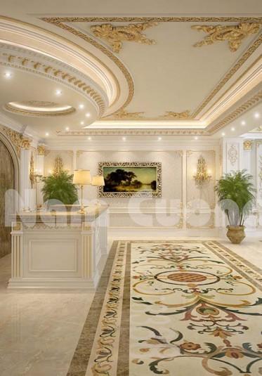 Tham khảo các mẫu sảnh lễ tân khách sạn tân cổ điển đẹp