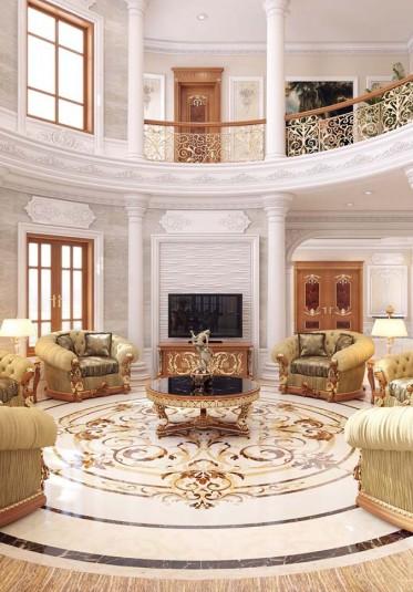 Thiết kế nội thất phòng khách tân cổ điển tại Quảng Ninh - PKCD 015