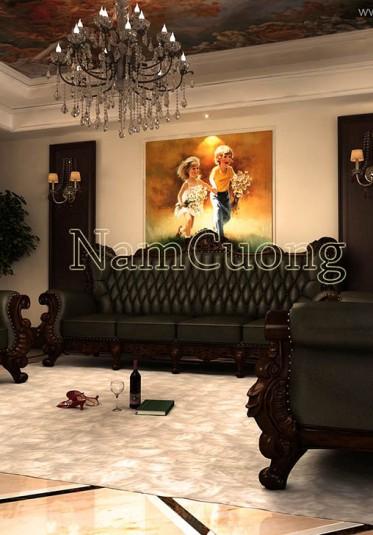 Ấn tượng với mẫu nội thất phong cách vintage cho biệt thự cổ điển - NTBTCD 028