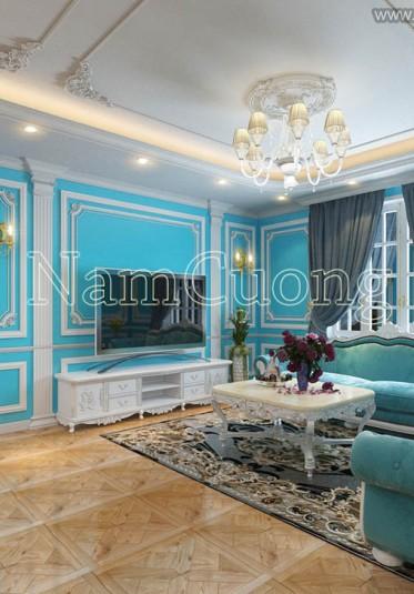 Choáng ngợp với không gian nội thất cổ điển màu lục lam tại Sài Gòn - NTBTX 001