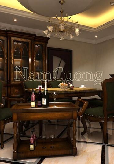 Mẫu thiết kế nội thất biệt thự cổ điển ấn tượng tại Sài Gòn - NTBTCD 031