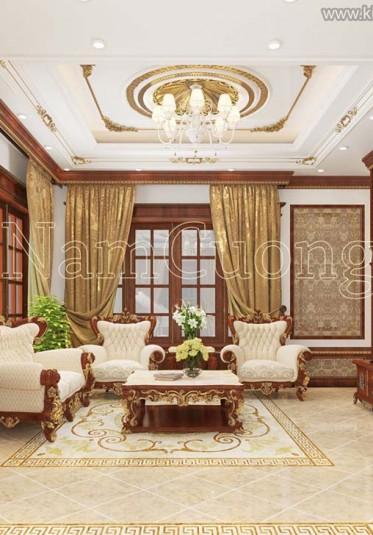 Mẫu thiết kế nội thất biệt thự cổ điển đẹp tại Quảng Ninh - NTBTCD 033