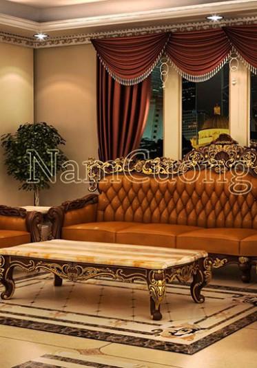 Thiết kế nội thất gỗ cổ điển cho biệt thự cao cấp tại Hà Nội - NTBTCD 035