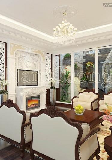 Mẫu thiết kế nội thất biệt thự tân cổ điển đẹp tại Quảng Ninh - NTBTCD 037