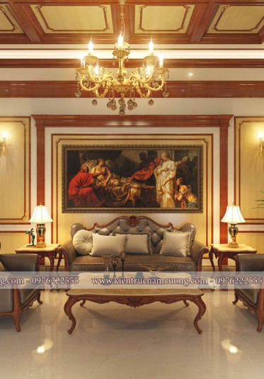 Mẫu thiết kế nội thất cho nhà ống tân cổ điển tại Hải Phòng - NTBTCD 052