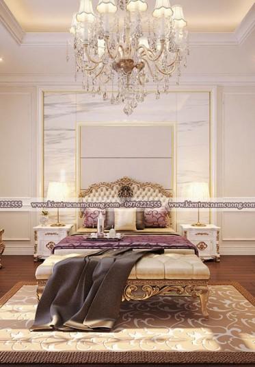 Không gian phòng ngủ nội thất tân cổ điển đẹp tại Hà Nội - NTPNCD 077